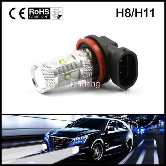 2pcs H11 H8 30W    LED High Power Super White Car Auto Light Source Fog Driving DRL Lamp Bulb 600LM DC12V