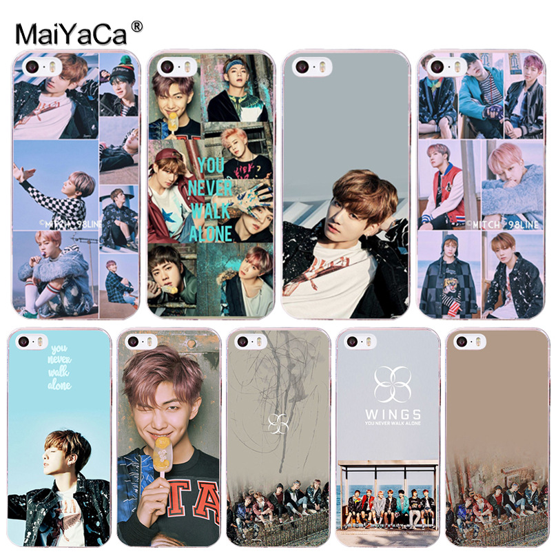 MaiYaCa BTS Bangtan Boys you never walk alone BTS Coque Shell Phone Case for Apple iPhone 8 7 6 6S Plus X 5 5S SE 5C Cover