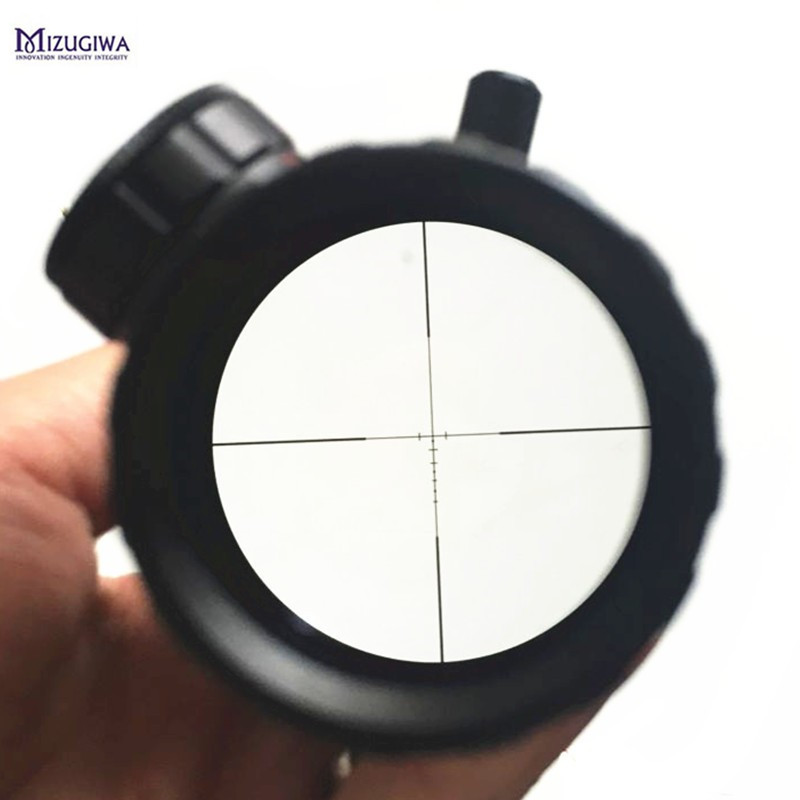 лучшая цена Hunting Riflescope 1-4x20 Rifle Scope Green Red Illuminated Range Finder Reticle Air Optical Sight + 25.4mm 20mm Scope Mount