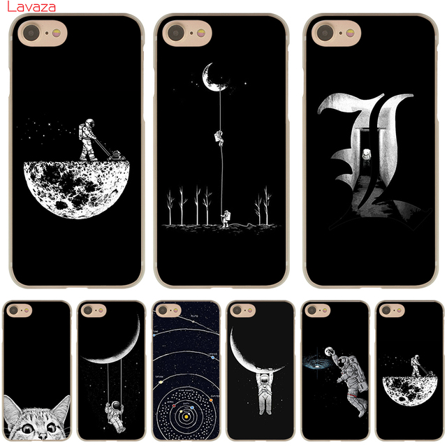 fdea758e05 Lavaza Space Moon Cute Cats black Hard Phone Case for Apple iPhone 6 6s 7 8  Plus 4 4S 5 5S SE 5C Cover for iPhone XS Max XR Case