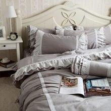 Nuevo juego de cama clásico romántico gracefull con volantes de encaje de lujo princesa ropa de cama satén taladro funda nórdica de algodón elegante colcha