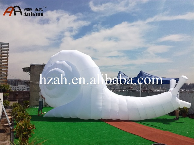 Gigante gonfiabile lumaca cartone animato in gigante gonfiabile