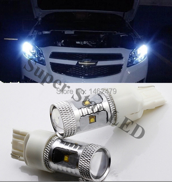 Pair LED Marker Bulb Clearance Lamp Daytime Running Lights DRL 7443 W21/5W For Chevrolet ...