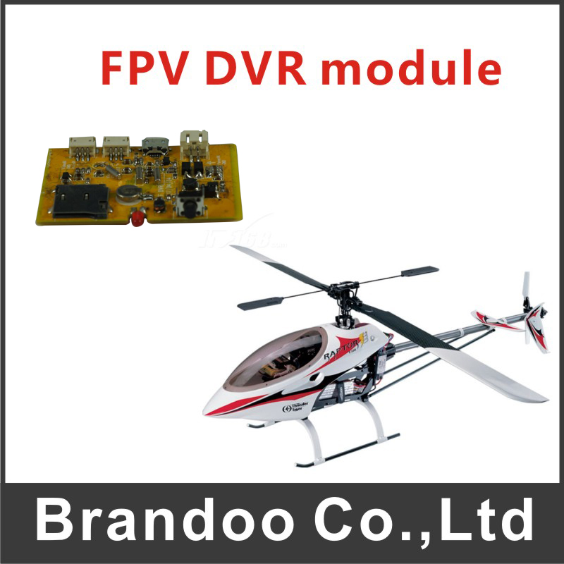 FPV SD DVR module, 1 channel recording, used on model airplane,aircraft, HD video resolution,model BD-300FP from Brandoo