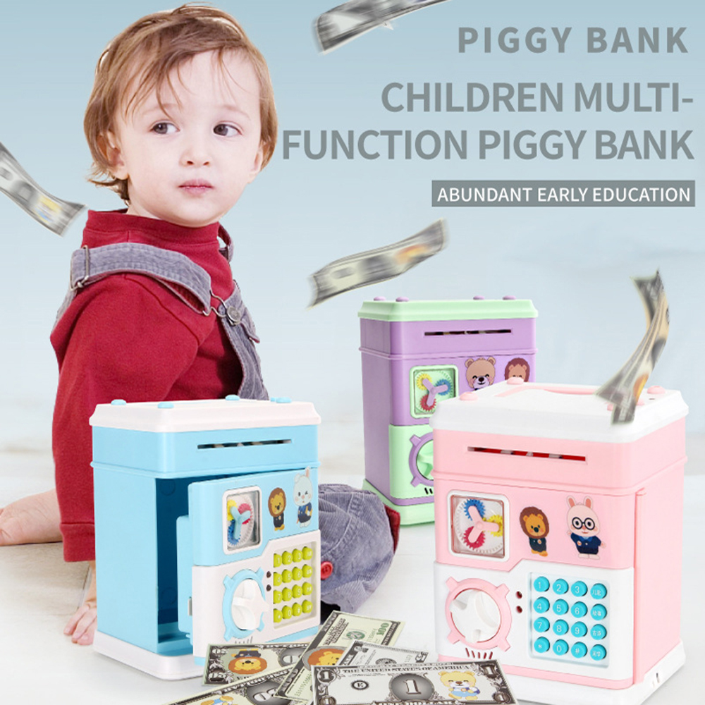 Creative Automatic Piggy Bank Money Boxes Kids Electrics Sound Password Coin Saving Pot Toys for Child Early Educational Tools