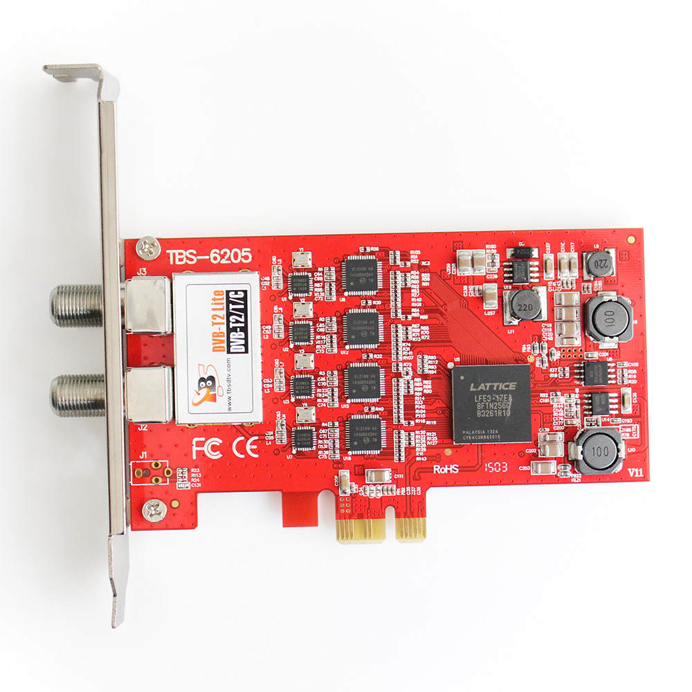 ELi laosaadetised! TBS6205 DVB-T2 / T / C Quad TV-tuuner PCIe-kaart - Kodu audio ja video - Foto 2