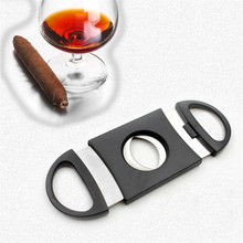 Portable Stainless Steel Cigar Cutter Small Metal Pocket Gadgets Accessories