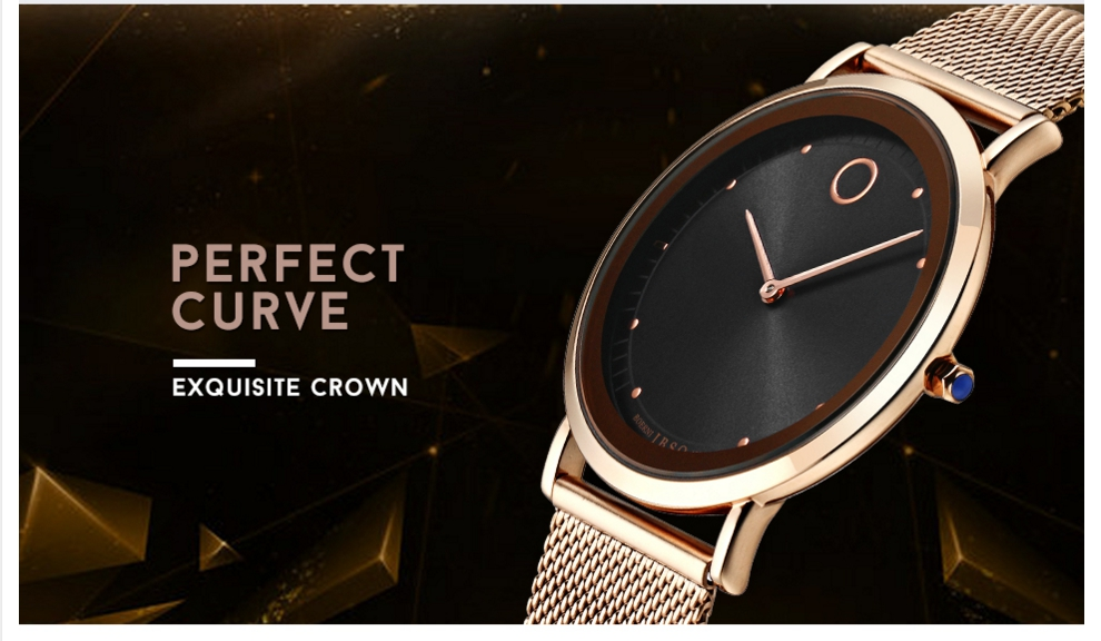 IBSO Fashion Simple Style Ultra Thin Bracelet Watches 7