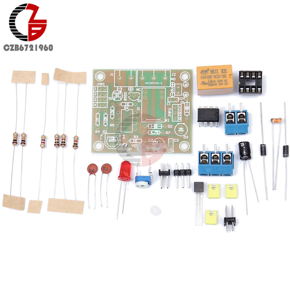 Light Activated Relay Switch Kit Lascrlight Scr Electronic Circuits And Diagram Diy Operated With 5v Lm393