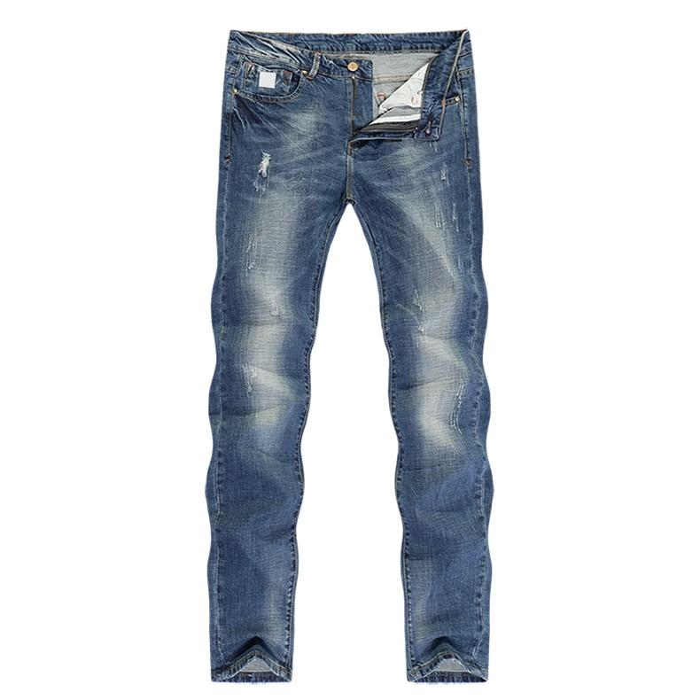 KSTUN Fashion Jeans for Men Slim Straight Blue Stretch Distressed Men's Clothes Trousers Yong Man Casual Pants Cowboys Jean Hombre 38 11