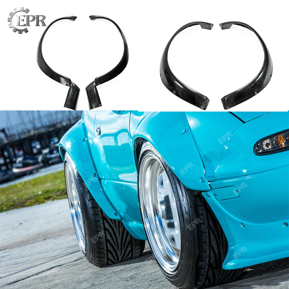 For <font><b>Mazda</b></font> MX5(1989-1997)<font><b>NA</b></font> Miata Roadster R FRP Bunny Wide Body Glass Fiber Front/Rear Fender Tuning Part Trim Fiberglass Fender image