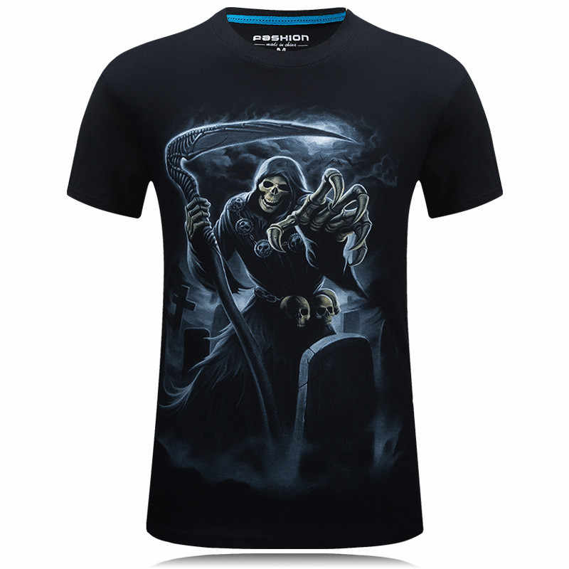 2016 lato mężczyzn indywidualność 3D koszulka z nadrukiem New Arrival mężczyzna O-Neck luźne wysokiej jakości bawełna koszulki z krótkim rękawem duży rozmiar M-6XL M166