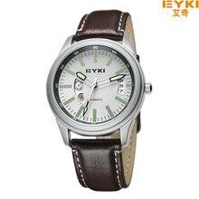 EYKI Moda Cuero Genuino Impermeable Reloj de Los Hombres Reloj Mecánico Automático de los Hombres de Negocios Reloj Relogio masculino EFL8719