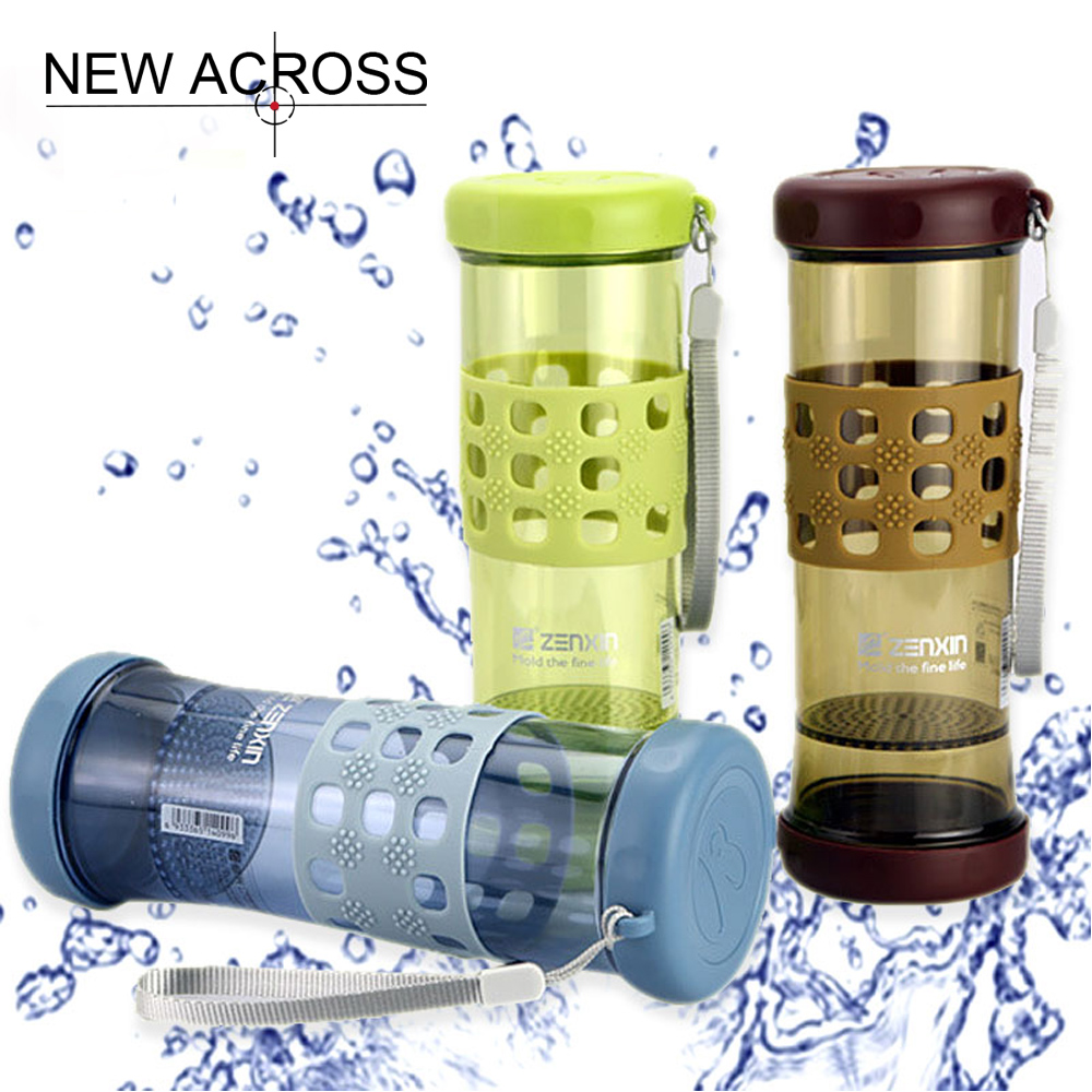 JUH 1Pcs 500ml Big Capacity Portable Water Bottle With Tea Filter Plastic Sport Water Bottle Home School Office Color Optional