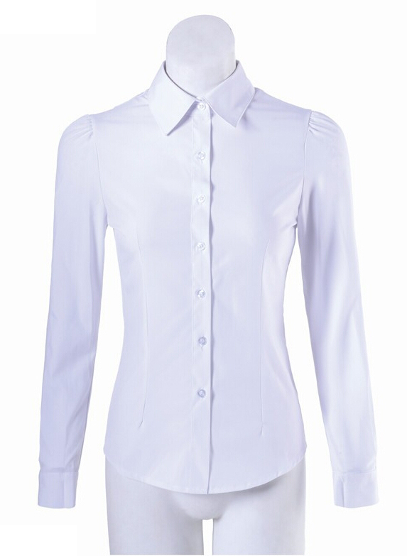 Aliexpress.com : Buy Women Formal Chiffon Blouses White Button ...