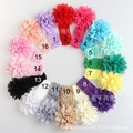 2015 NEW Baby Meninas Lace Headband Chiffon Flor Headband Infantil Cabelo Weave Banda crianças Acessórios de Cabelo Presentes de Natal
