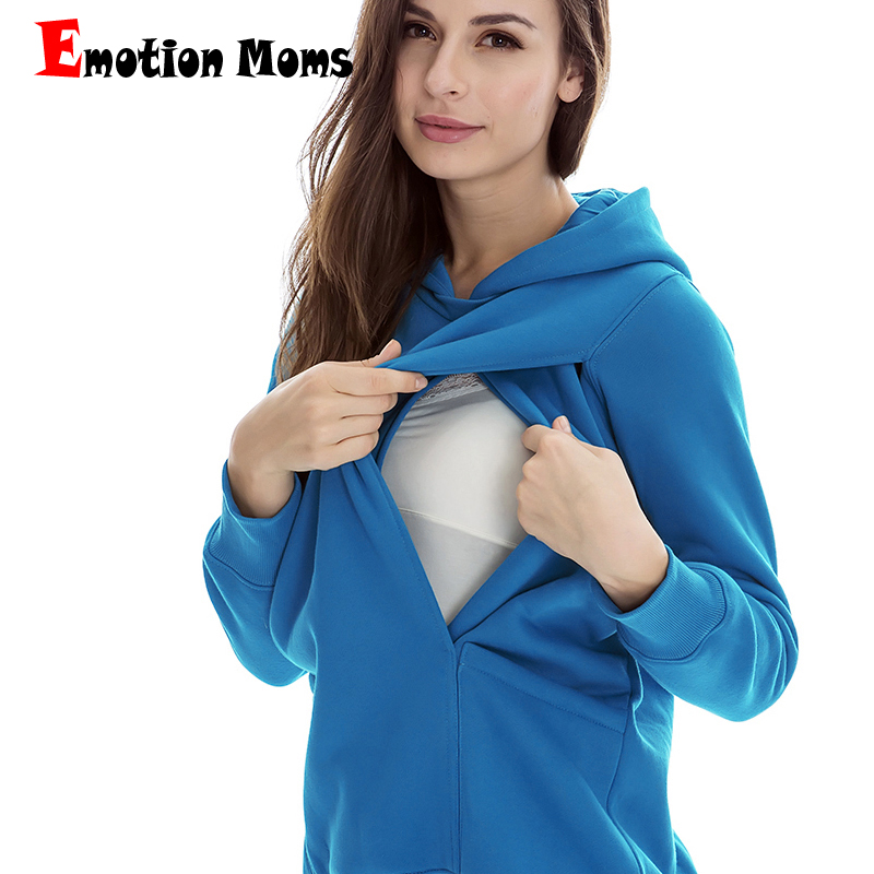Emotion Mom Winter Maternity clothes maternity Breastfeeding Tops nursing clothes for pregnant women Maternity Hoodie sweater все цены