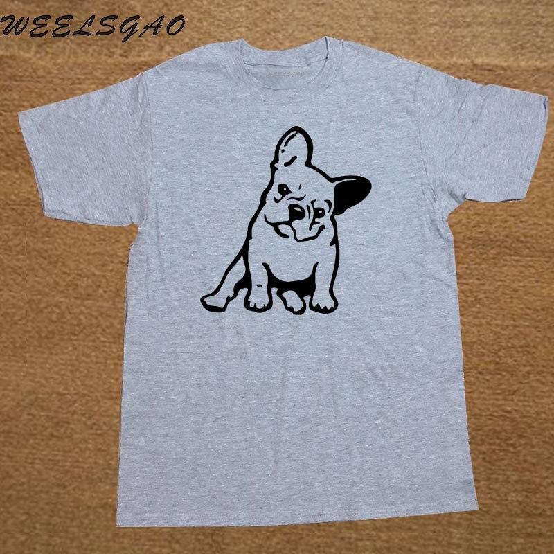 Fashion FRENCH BULLDOG Dog Animal Boyfriend Gift T Shirt Novelty Funny Tshirt Mens Clothing Short Sleeve Camisetas T-shirt