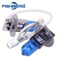 1 pair 12 V 55 W H3 6000 K Lâmpada Do Farol Azul Escuro Substituição do Vidro Do Carro lâmpada de Halogéneo Luz Super Brighter Frete Grátis