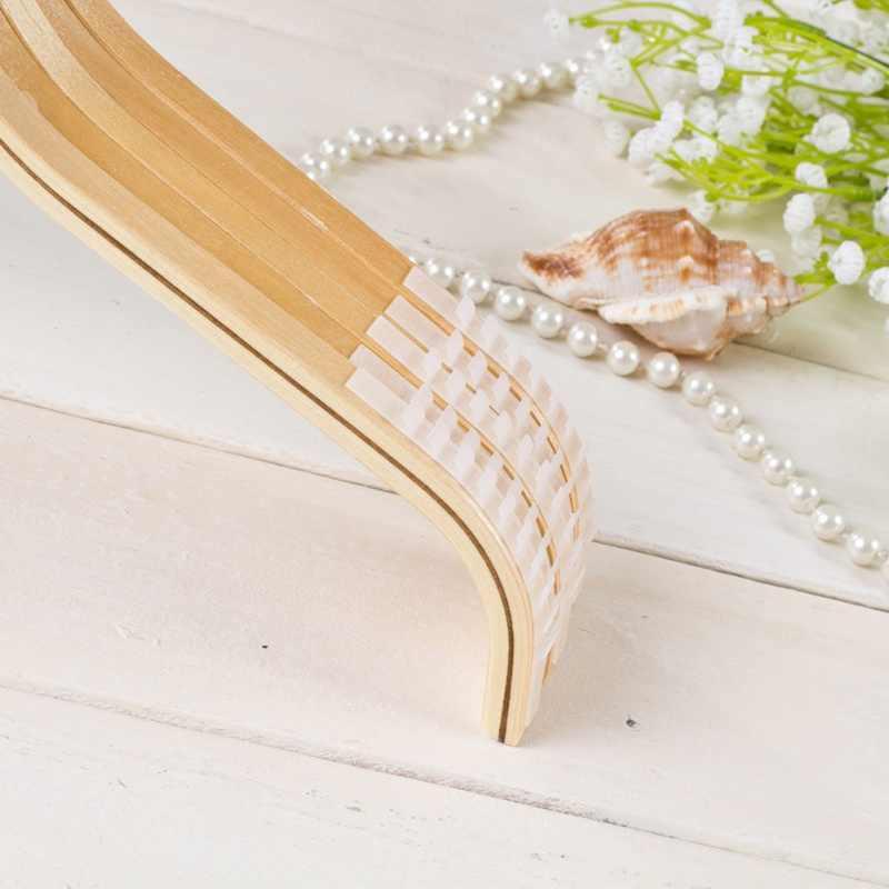 Los niños adultos antideslizante no-marca de Color de registro barniz brillante percha de madera casa suministros 32 cm/ 38 cm/42 cm