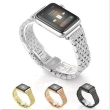 Rhinestone Diamond Stainless Steel Watch Strap for Apple Watch Band Series 1/2