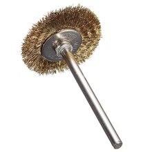 10 Uds cepillo de alambre de latón cepillo redondo disco cepillo taza cepillo 25MM para Dremel