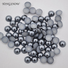 100pcs/lot 6mm Multicolor Acrylic Half Round Flat Imitation Pearl Beads For Wedding Party Favor DIY Decoration Accessories 8Z