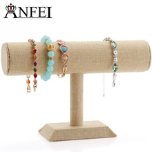 ANFEI Free Shipping Jewelry Stand Jewelry Display Shelf Bracelet Display Shelf Stand For Jewelry Rack Lightly Browned Wholesale