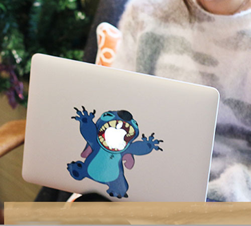 J344 Cartoon Stitch Big Mouth Eat Fruit Vinyl Decal for