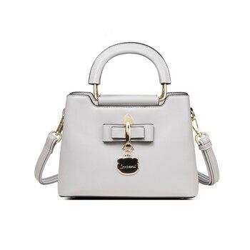 Girl Messenger Bags Princess Bow Children Kids Girls Princess Shoulder Bag Handbag Genuine Leather Crossbody Bags
