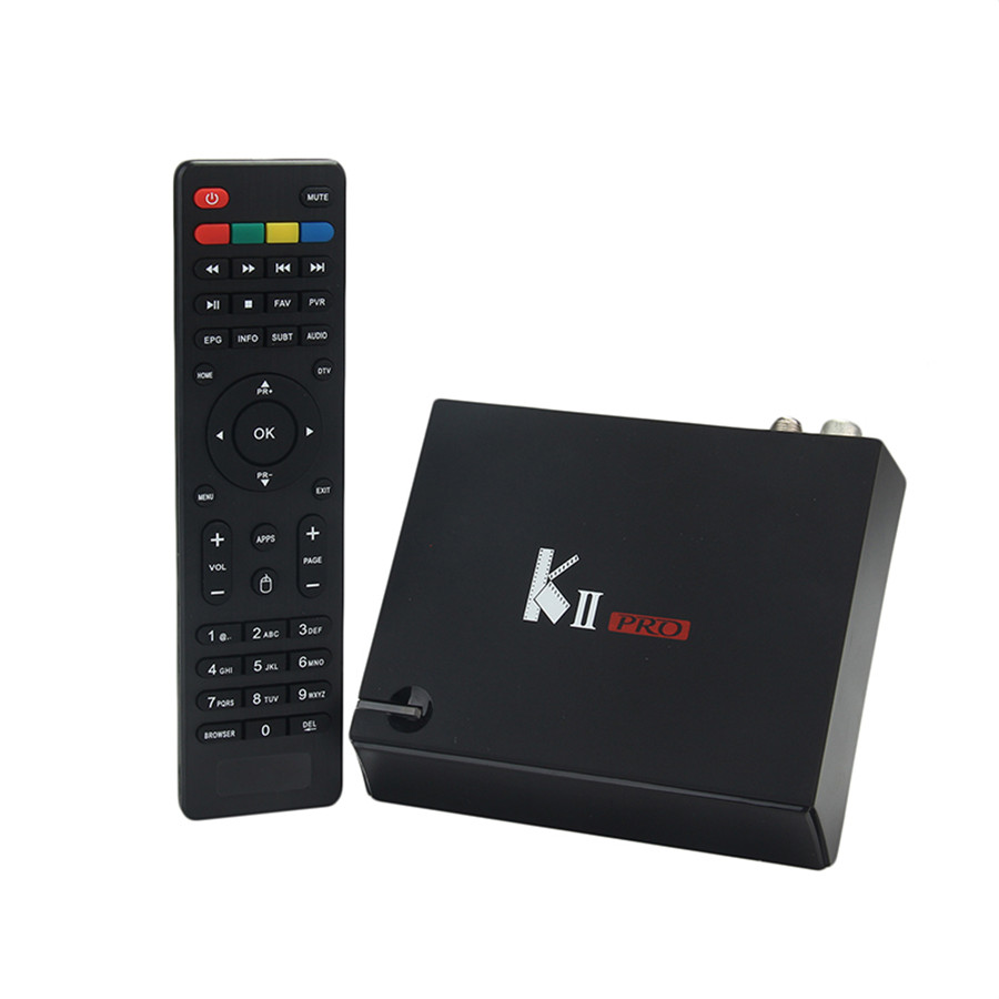 KII Pro Android TV Box Amlogic S905 Media Player 2G+16G Dual WIFI IPTV DVB-S2/T2 K2 PRO Satellite Receiver ship from Russian kii pro android tv box amlogic s905 media player 2g 16g dual wifi iptv dvb s2 t2 k2 pro satellite receiver ship from russian