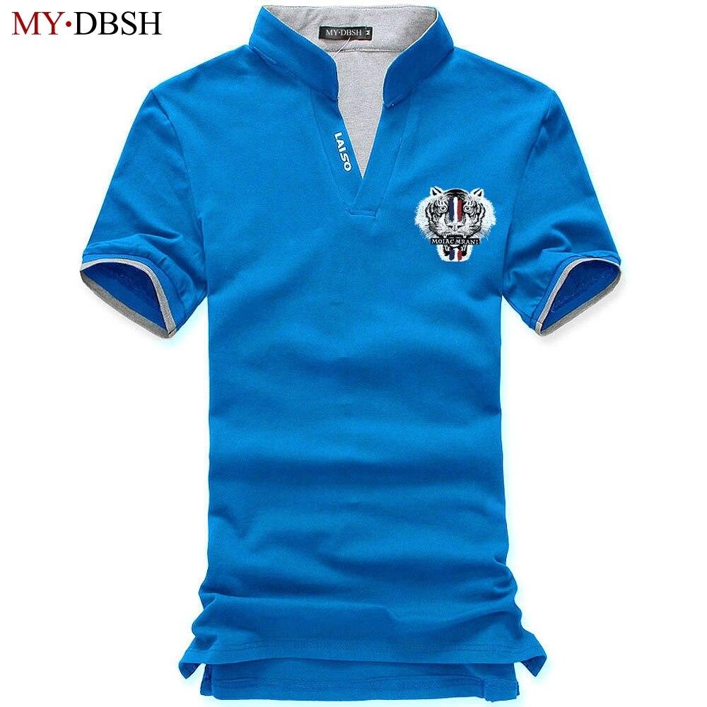Marke Neue Sommer Polo Shirt Männer Baumwolle Kurzarm Tiger Kopf Druck Camisa Polo Shirts Business Polo Tops Mann Polos Camiseta Elegantes Und Robustes Paket