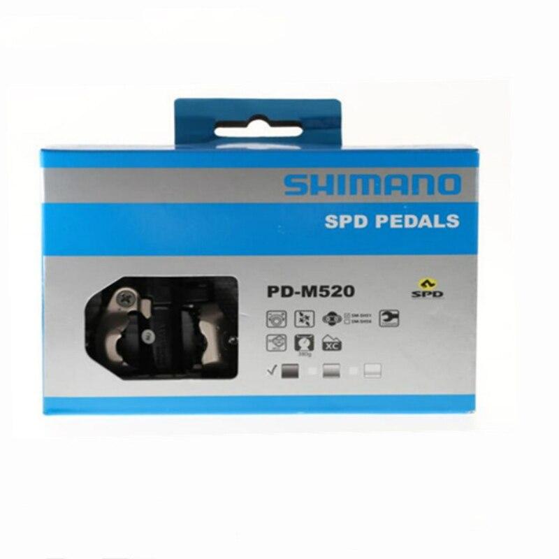 Shimano PD-M520 Pédale SPD VTT VTT Auto-bloquant Pédales automatiques AVEC Crampons PD22 - 3
