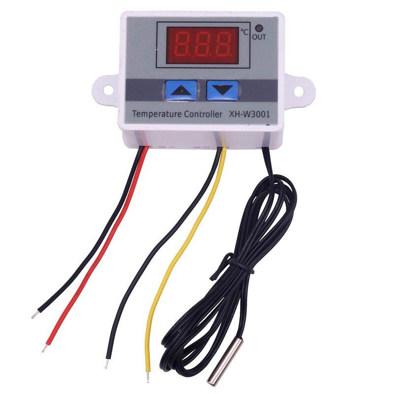 220 V 10A Numérique Led Température Contrôleur XH-W3001 Pour Arduino De Refroidissement Chauffage Interrupteur Thermostat + NTC Capteur