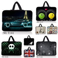 pure black 9.7 10 13 15 17 inch Neoprene laptop bag sleeve case with handle PC handbag computer notebook cover pouch T#021