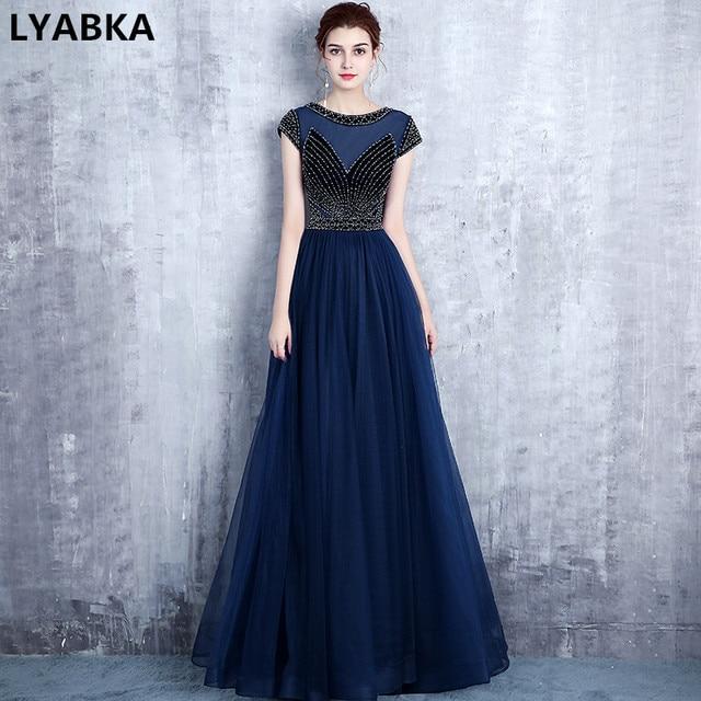 Navy Blue Evening Dresses