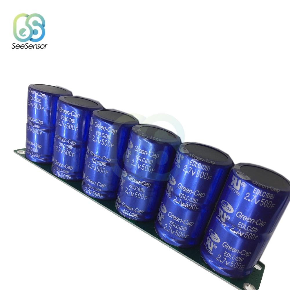 2pcs 500F 2.7V Super Farad Capacitor Single Row 5.4V 250F Low ESR Ultracapacitor