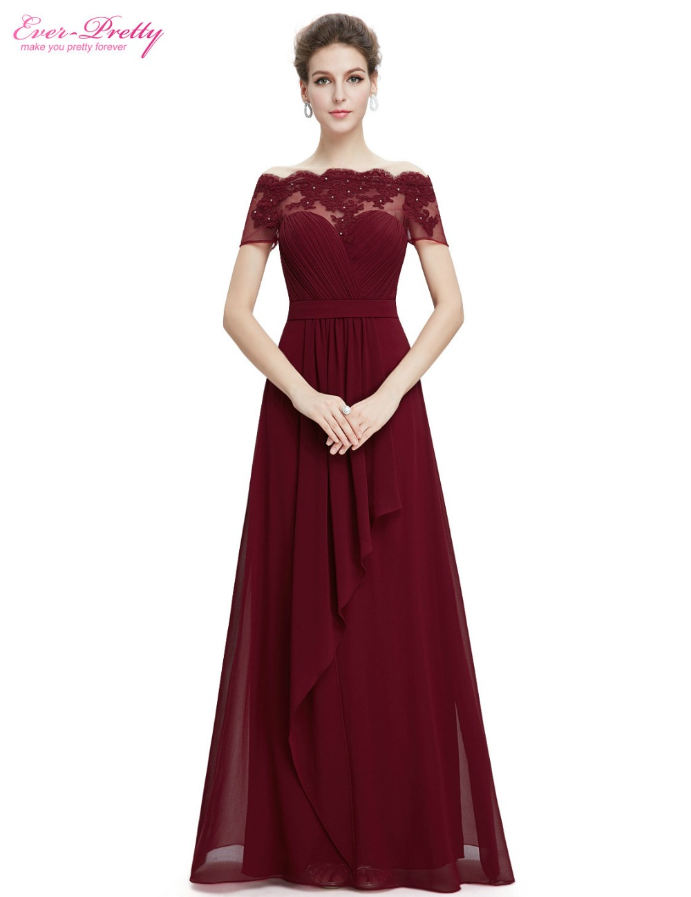 Clearance sale lace evening dresses ever pretty he08490 sexy boat clearance sale lace evening dresses ever pretty he08490 sexy boat neck short sleeves long formal evening party gowns 2017 in evening dresses from weddings junglespirit Images