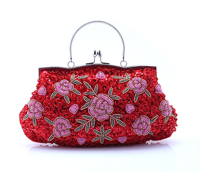 78943f20fce New Design Red Chinese Women s Wedding Evening Bag Clutch handbag Stylish  Beaded Sequined Bride Party Purse Makeup Bag 03395-3