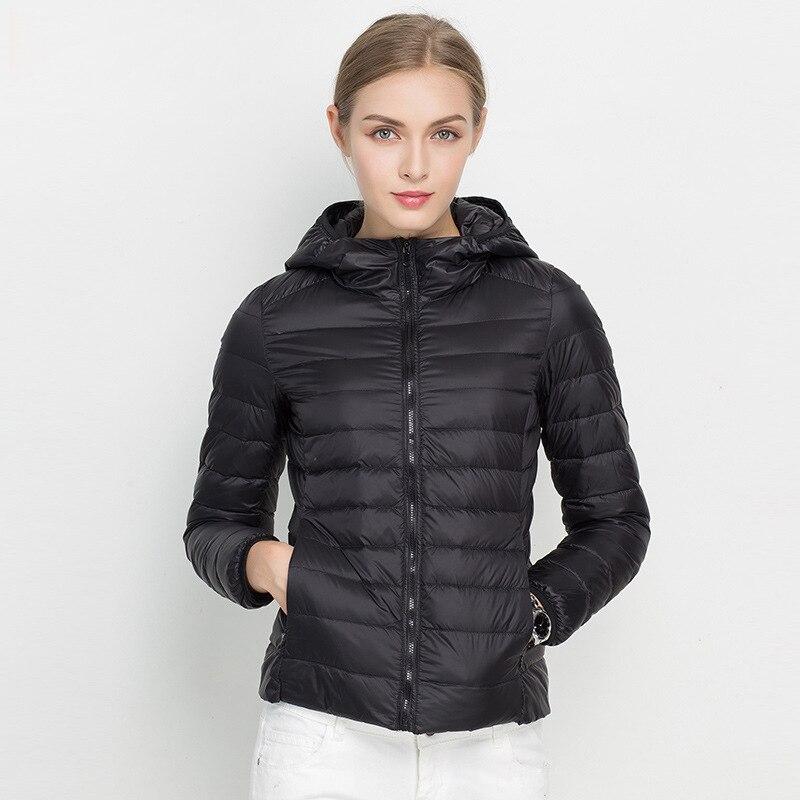 7888279b9f29 2017 New Women Winter Jacket Ultra Light White Duck Down Jacket ...