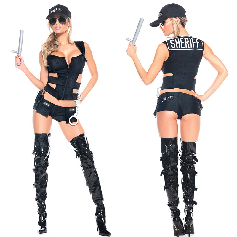 Buy New Policewoman clothing Sexy lingerie women costumes Sexy underwear Role play babydoll