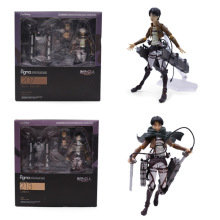 2 Styles Anime Attack on Titan Levi Ackerman Eren Jaeger PVC Action Figure Doll Model Figma 207 213 Toy Christmas Gift цена в Москве и Питере