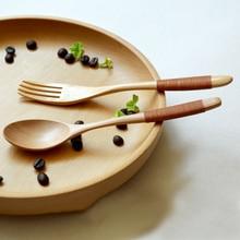 Деревянная Kinking ложка, вилка, столовый прибор посуда рисовая половник для супа приготовления пищи