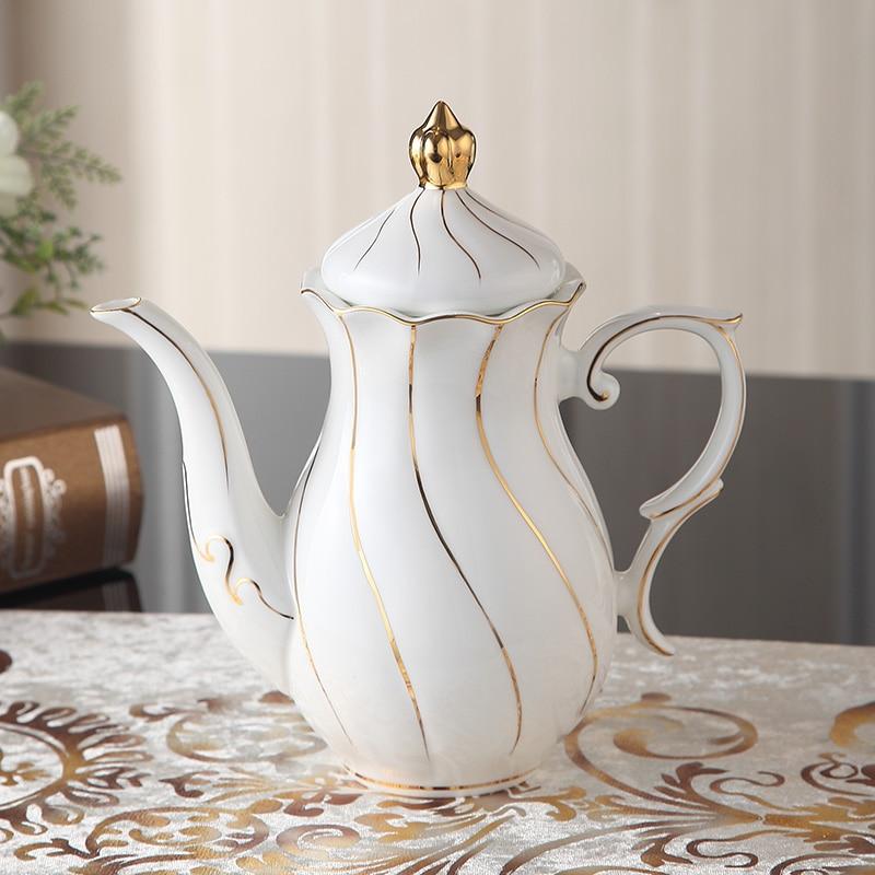 Europa Zlato Inlay Bone Kina Kava Set Britanski porculanski čaj Set - Kuhinja, blagovaonica i bar - Foto 4