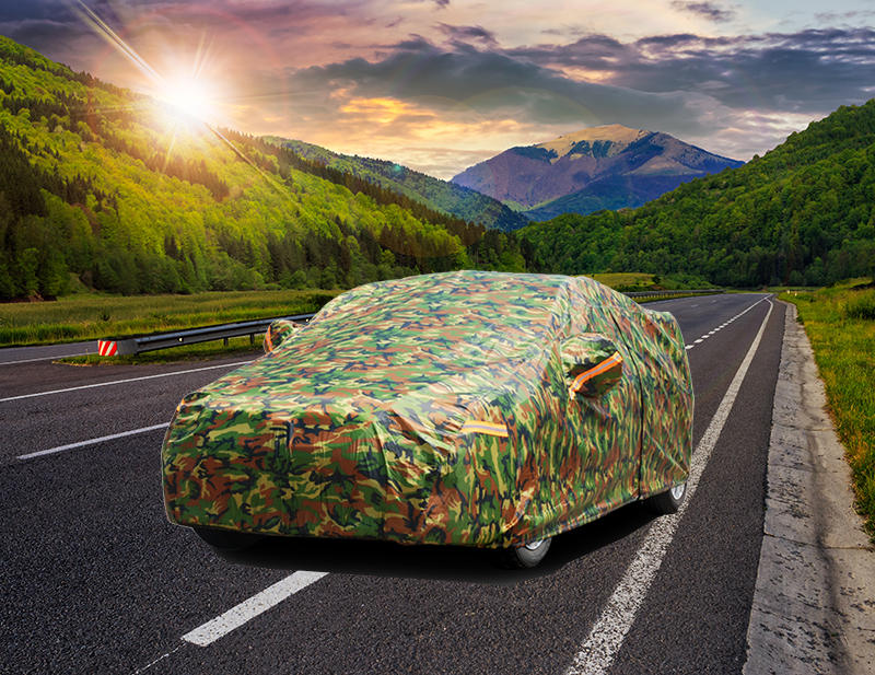 Kayme Waterproof Camouflage Car Covers Outdoor Sun Protection Cover