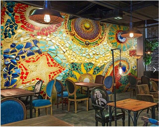 Custom Wallpaper For Walls 3d Bohemian Abstract Painted Murals Living Room Bedroom Tv Backdrop