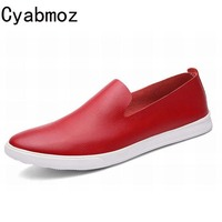 Plus Size Men Shoe Fashion Platform PU Leather Flat Slip On Loafers Man Casual Single Shoes