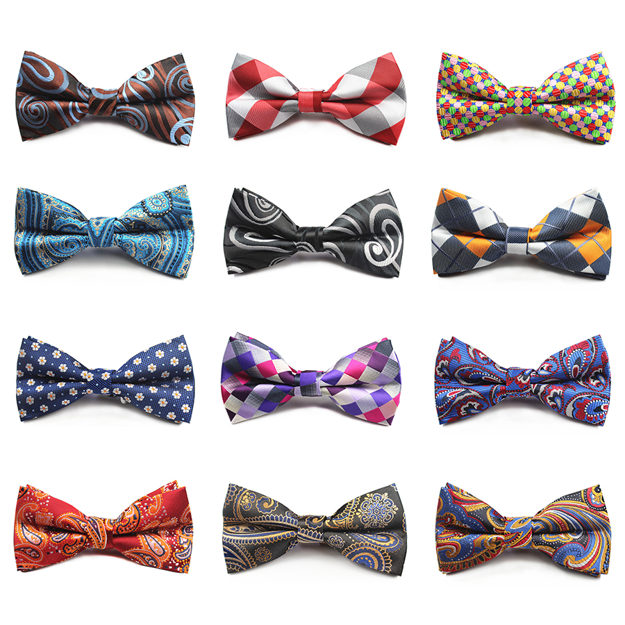 Ricnais New Design Plaid Bow Tie Mens Necktie For Wedding Pajaritas Dress Tuxedo Party Colorful Skinny Cravats Floral Bowtie
