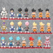 21 pçs/set Action Figure Goku Dragon Ball Son Goku Vegeta Frieza Vegetto PVC Anime Figura Collectible Toy Modelo(China)
