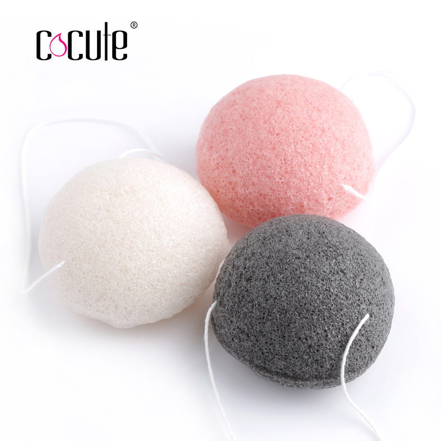 Cocute Konjac Sponge Beauty Essentials 100% Natural Konjac Puff Facial Pore Cleaner Washing Sponge Face Skin Care Tools